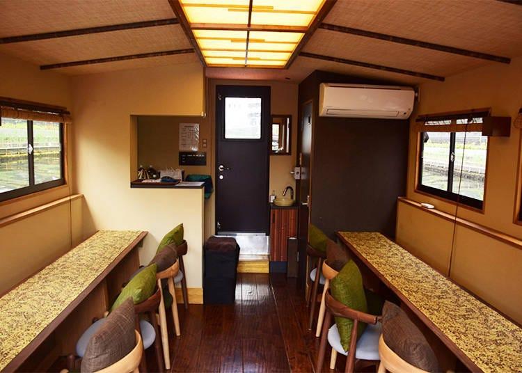 舒適且方便的船艙空間&寬敞又自在的甲板座席