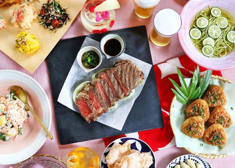 「루미네 신주쿠」도쿄의 모던함을 컨셉으로 일본풍 비어가든
