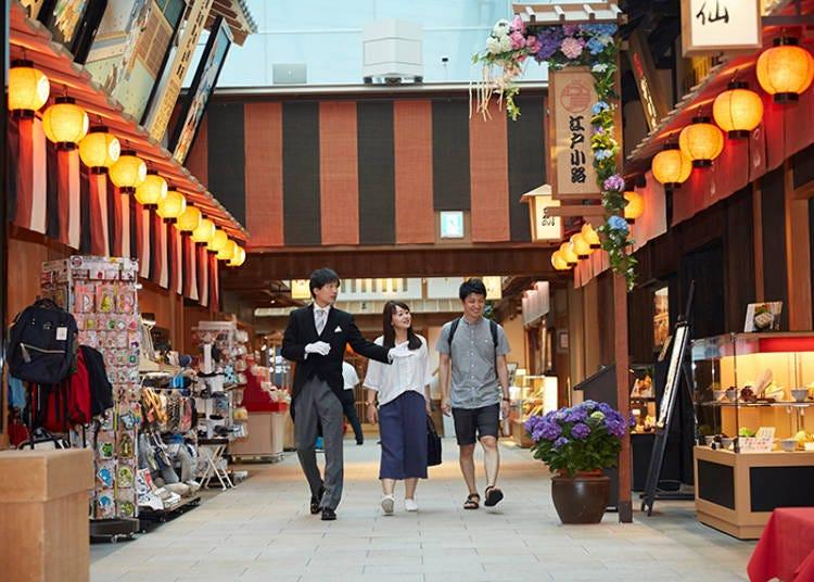 和の雰囲気満点、フォトジェニックな「江戸小路」