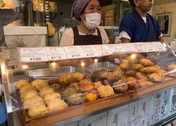 在淺草仲見世參道品嚐炸饅頭/170日圓