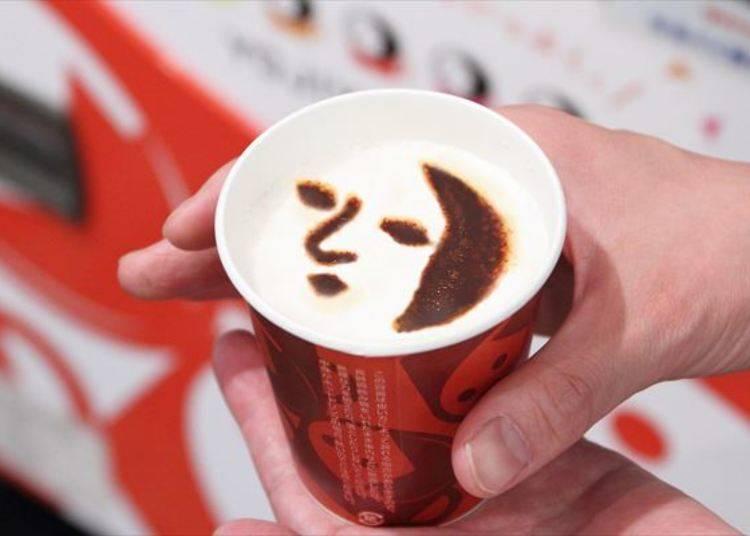 YOJIYA的知名LOGO變成咖啡拉花了!