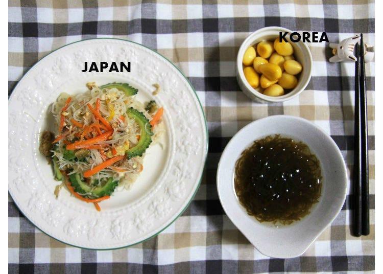 【水曜日】 火曜の野菜炒めをアレンジした、そうめんチャンプルー