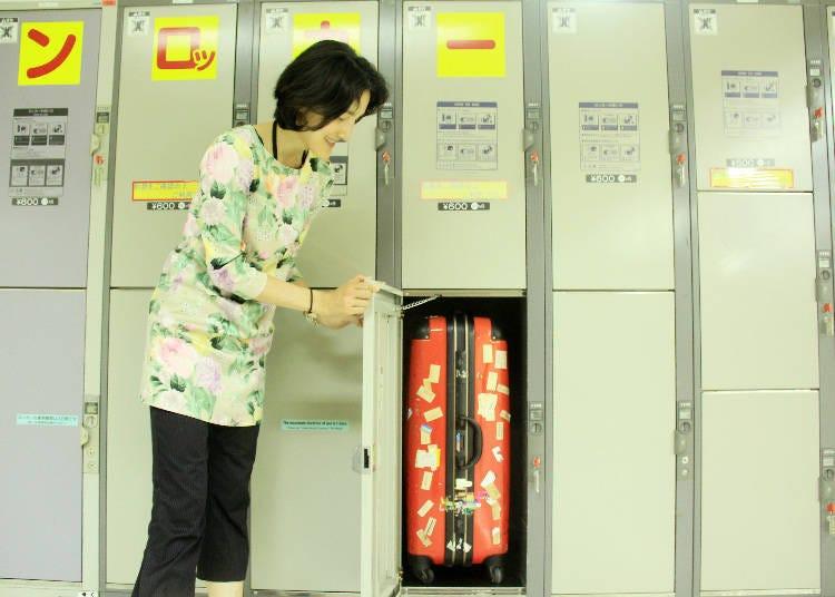 連行李箱都放得下的大尺寸置物櫃