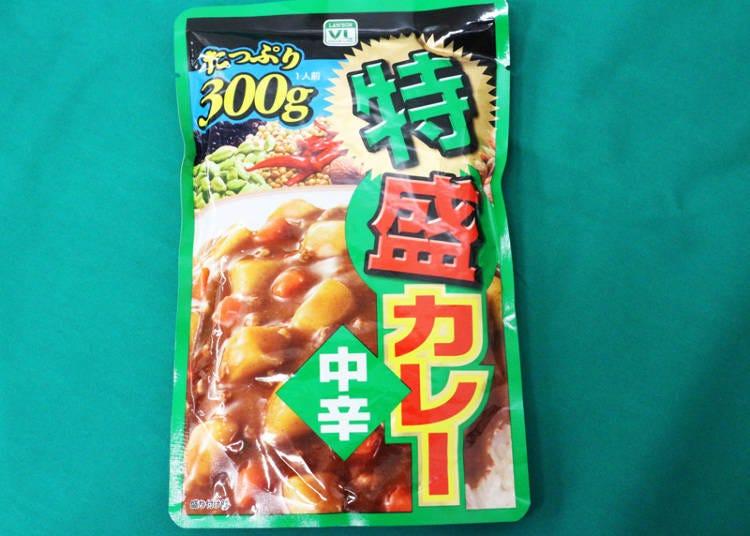 ■인기카레 제3위 : 도쿠모리 카레(중간 매운맛)