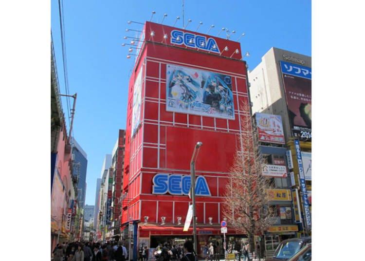 Club Sega Akihabara Building No. 1: Modern and Chic - True Japan Arcades!