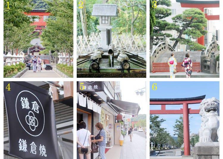 รูทเดินชมเมือง 2 : ศาลเจ้า Tsurugaoka Hachimangu > ถนน Wakamiya Oji > สถานีคามาคุระ