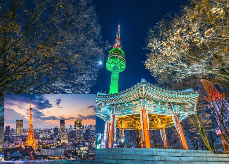 6.도쿄와 서울의 야경 비교