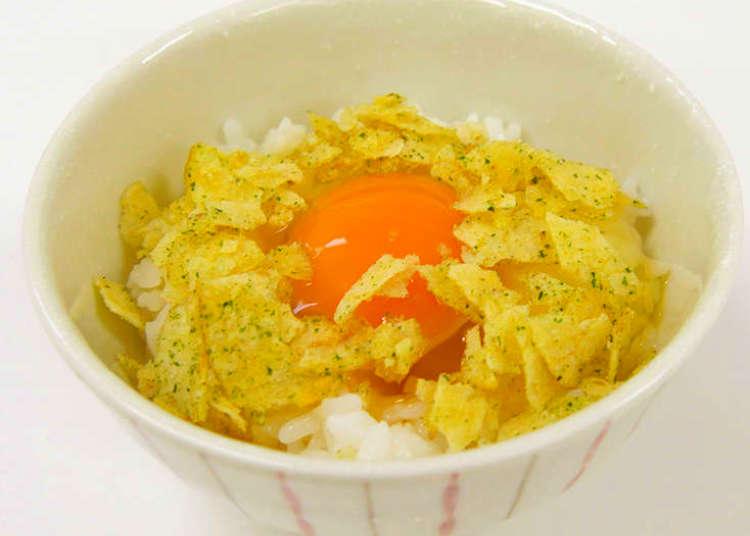 """일본 애니에도 등장. """"타마고카케고항(TKG)을 더 맛있게 먹을 수 있는 조합!"""" 의외로 감자칩이 어울린다!"""