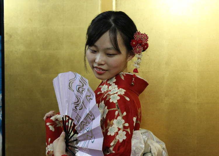 Their First Kimono Experience in Asakusa: A Kimono Transformation in Only 20 Minutes!
