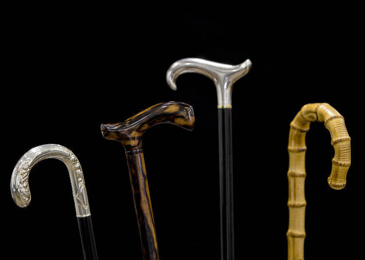 1. Ginza Takagen: Fancy, Handmade Walking Sticks