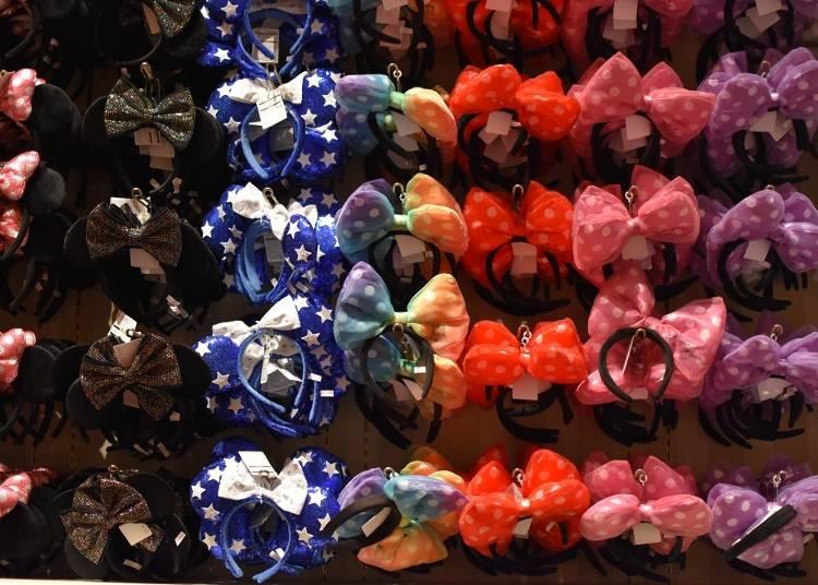 迪士尼女孩必備米妮風超大蝴蝶結髮箍