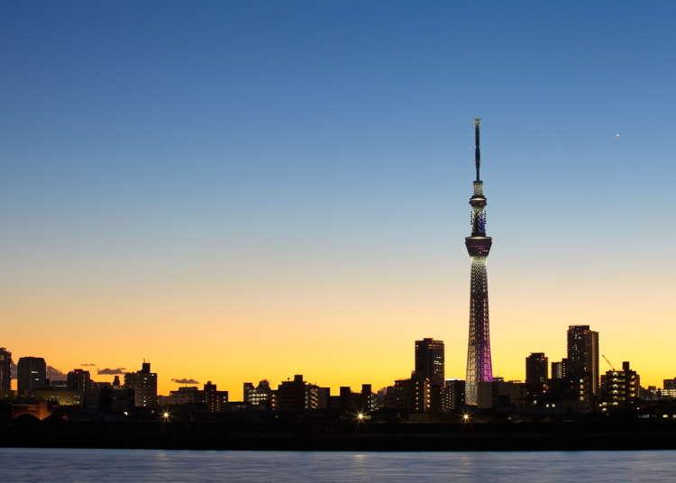 도쿄 스카이트리(R)라는 거대한 전파탑 밑에 위치한 소라마치(R)의 볼거리와 맛집