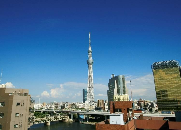 Asakusa Ekimise: Gaze Over Traditional Tokyo and Skytree at Hare Terrace