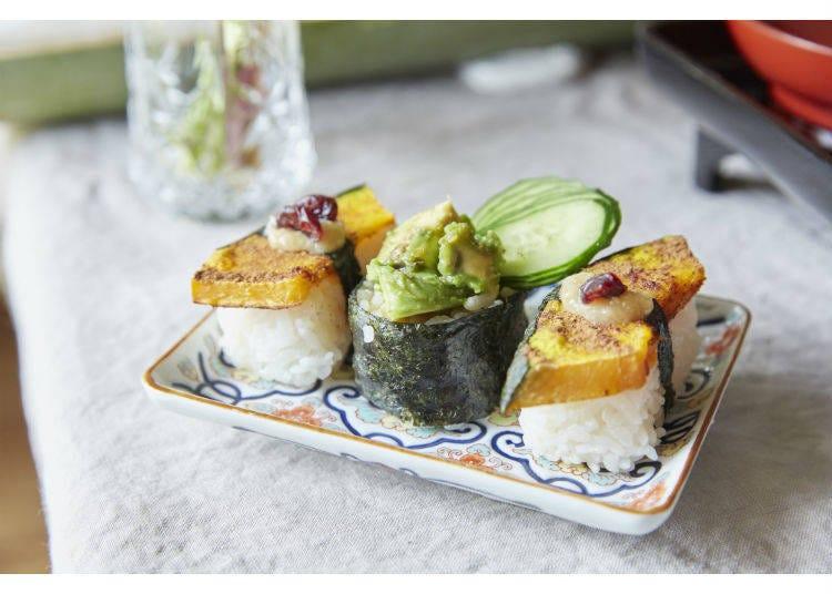 Veggie Sushi and Tempura
