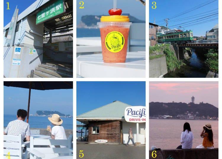 Walking Route 2: Shichirigahama Station → Shichiko-dori → Pacific Drive-In