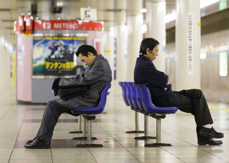 3. People sleeping everywhere