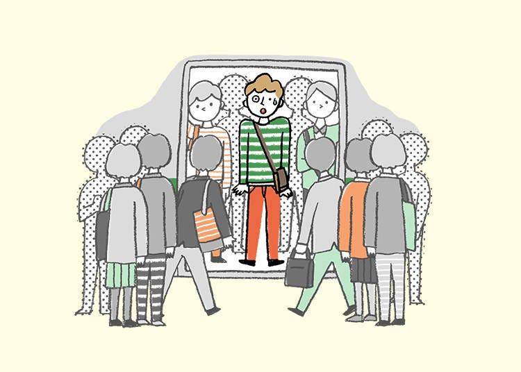 5) Don't hang around near the doors