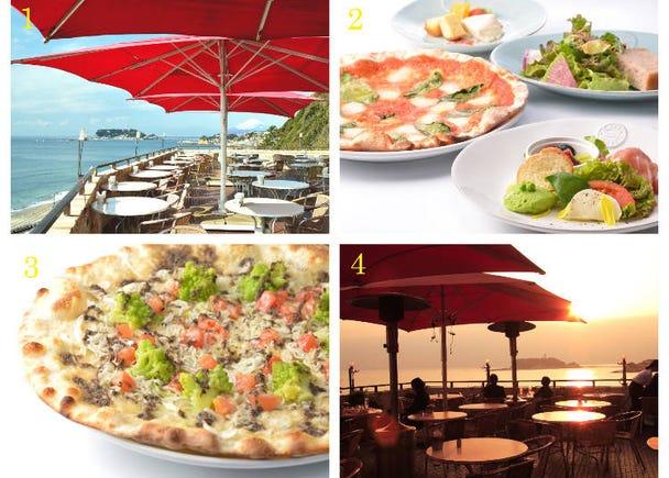 【2】景觀餐廳「Amalfi Dellasera」跟著江之島夕陽一起渡過悠閒時光