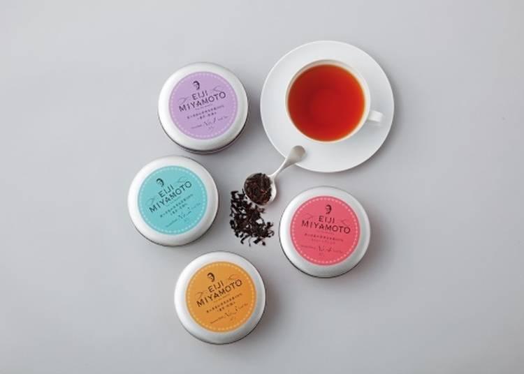 国産茶葉の優美な香りをご家庭で。「EIJI MIYAMOTO」の「国産リーフティ詰合せ」/日本橋高島屋