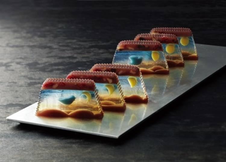 遊び心溢れる絵画のような伝統和菓子。「本家長門屋」の「羊羹ファンタジア」/日本橋高島屋