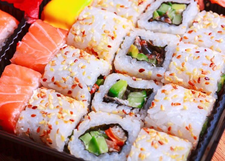 南国だけに、カラフルなお寿司がお好き?(グアムでの体験/20代/女性)