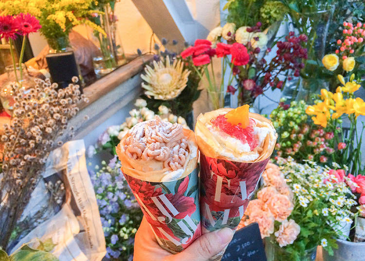 Instagram美味兼具夢幻的話題店 如花朵般盛開的代官山人氣可麗餅「TAJIMAJI」