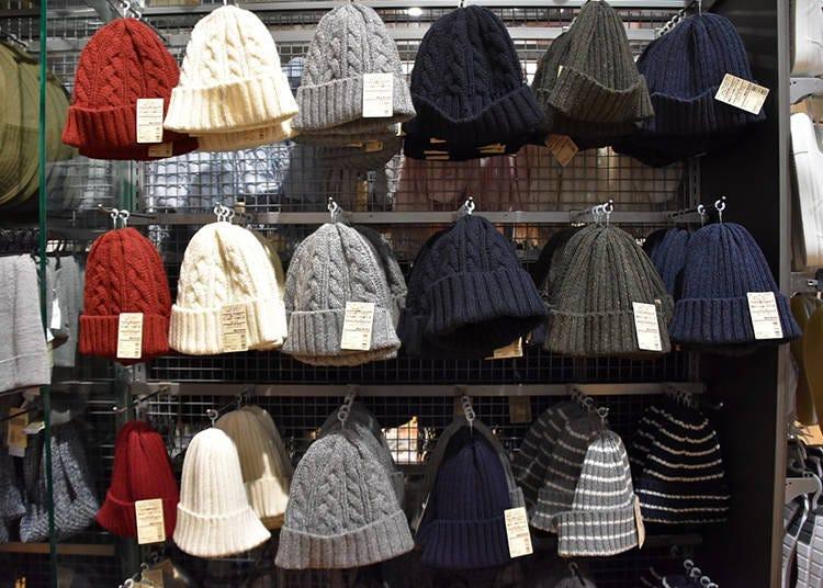 無印良品推薦冬季商品⑤不易刺癢可洗滌混羊毛針織帽