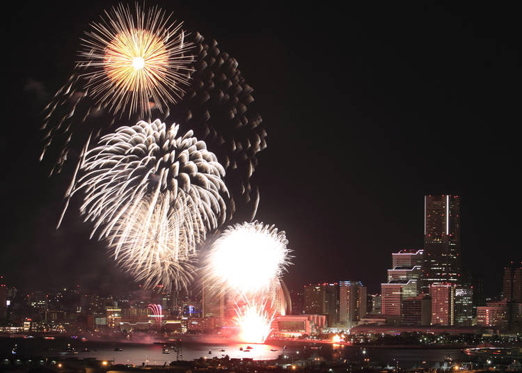 9. Experience the excitement: Kanagawa Shimbun Fireworks Festival|