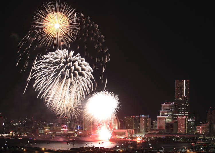9. Experience the excitement: Kanagawa Shimbun Fireworks Festival