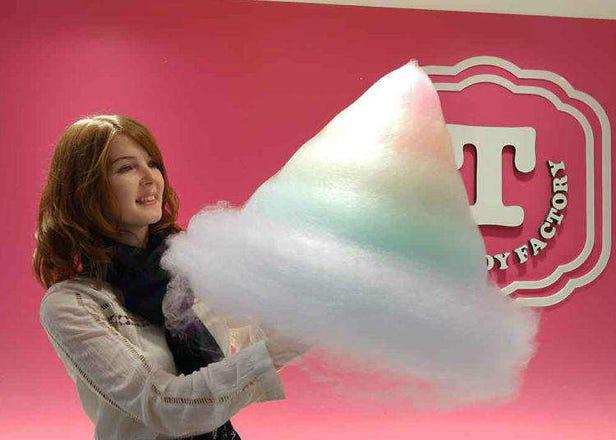 原宿で話題のレインボーわたあめ!超巨大なわたあめの正体をTotti Candy Factoryで見てきた