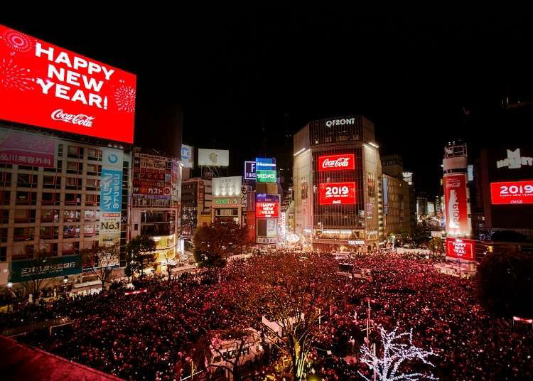 """Shibuya New Year's Eve Countdown: Counting Down at Tokyo's """"Times Square"""" (Canceled for 2021)"""