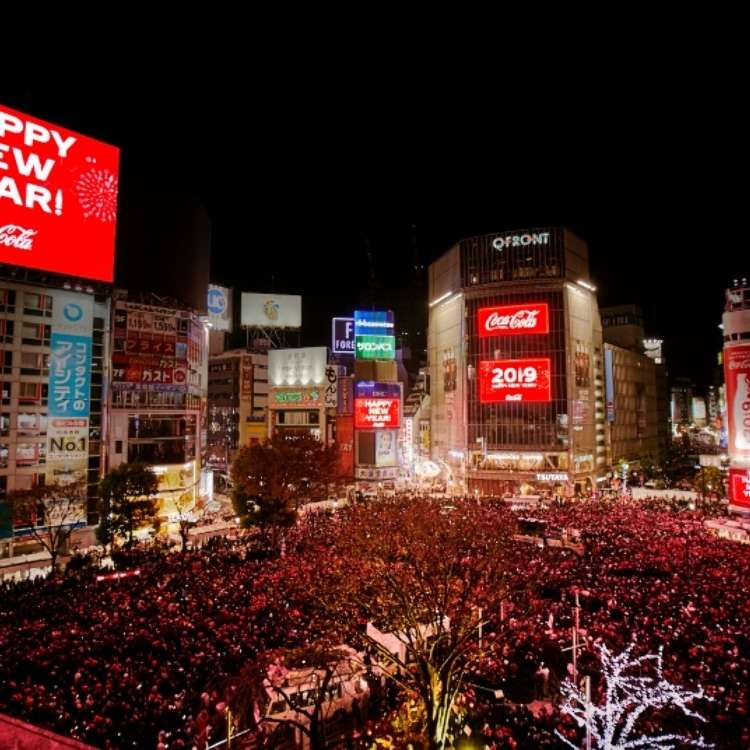 "Counting Down New Year's 2019 at Tokyo's ""Times Square"" in Shibuya!"