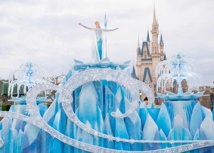 """anna and elsa's frozen fantasy"" at tokyo disneyland 1"
