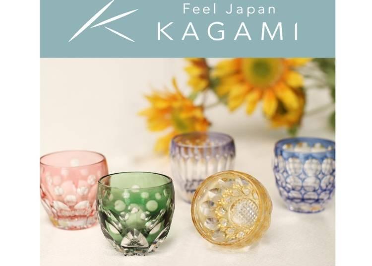 五顏六色的雅緻玻璃用品!『KAGAMI CRYSTAL銀座店』