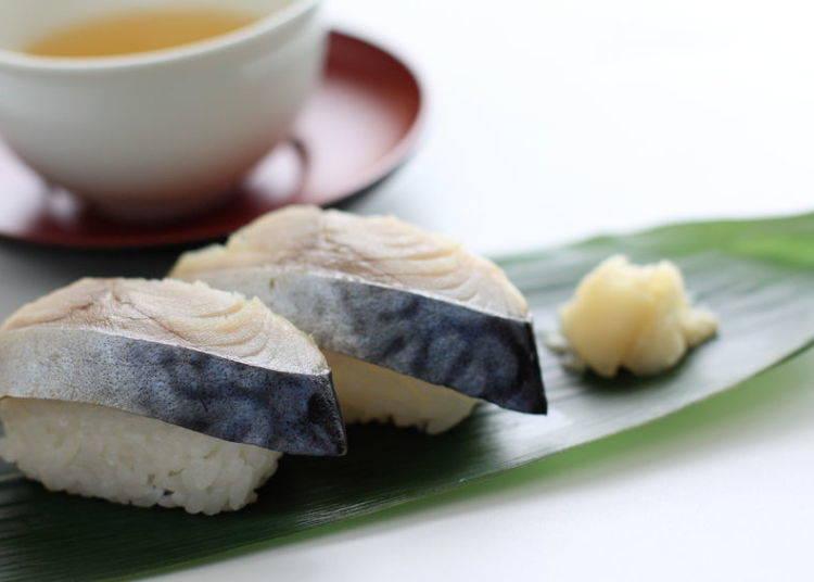 6. Shime-saba (marinated mackerel)