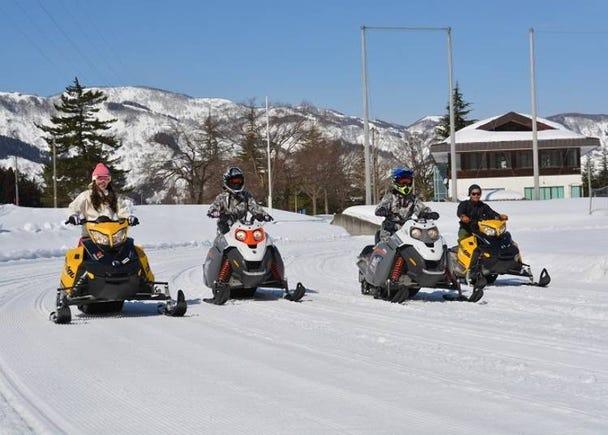 Snowmobiling in Yuzawa