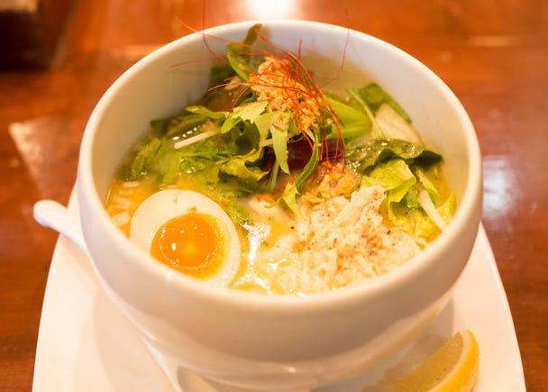 知名中華料理店親手打造正宗「雞白湯鹽味拉麵」/雞白湯麵 蔭山 高田馬場店