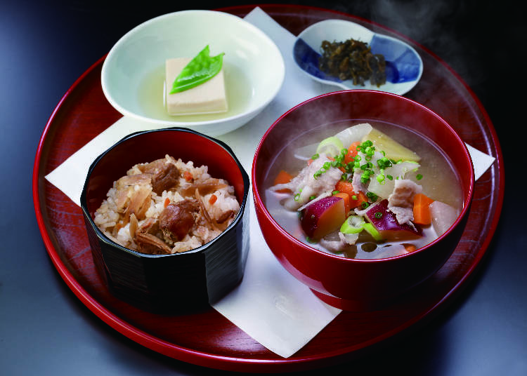 Recommended Dishes #1 - Pork Miso Soup Set Meal from Kyushu (1,280 JPY)