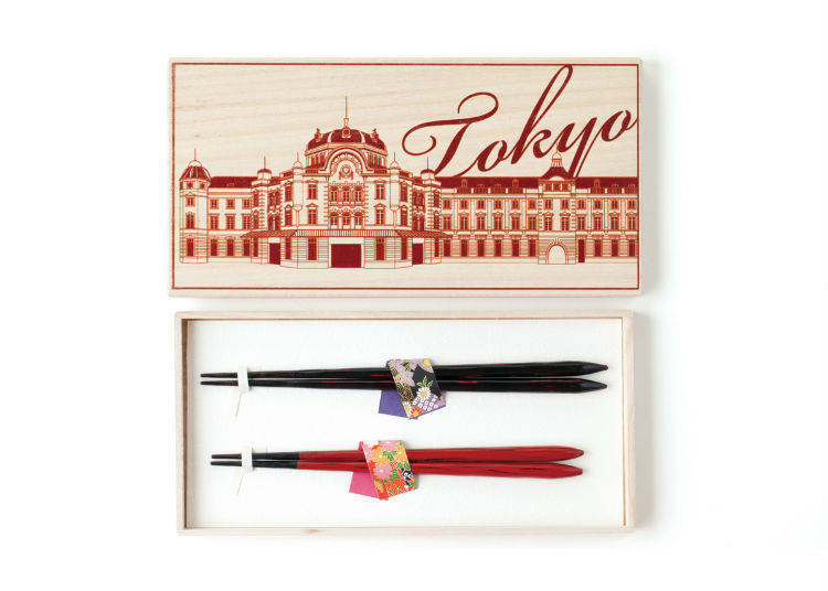 Souvenirs Only Available at Tokyo Station #5 - Paulownia Box (1,944 JPY)