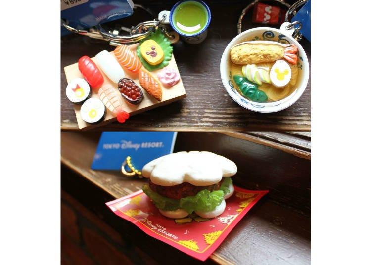 尋找被壽司、蕎麥麵藏起來的米奇!食物主題鑰匙圈