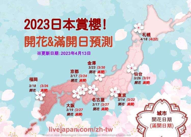 【2/6更新】2020年日本賞櫻預測圖!日本各地的開花日期&櫻花滿開總整理