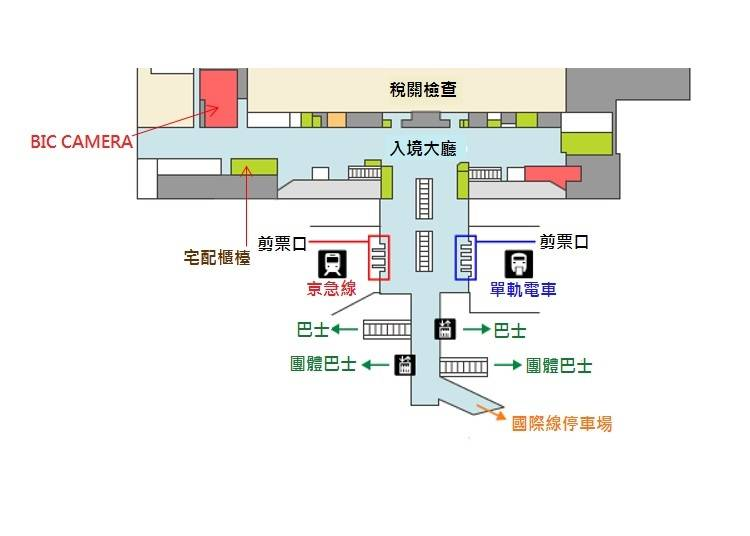 <羽田空港 2樓抵達大廳>