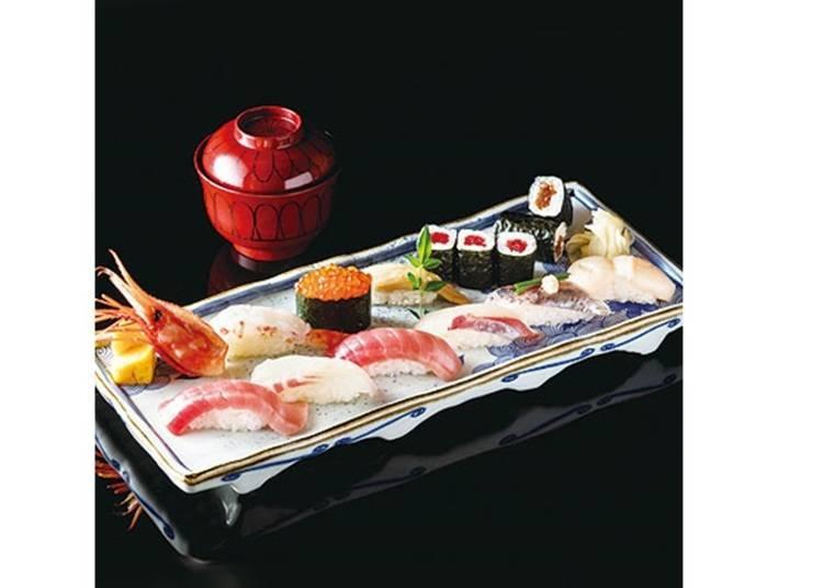 젊은이들의 거리 시부야에서 즐기는 전통 에도마에 스시/ 시모다카이도 아사히즈시 소혼점 (도부백화점 도요코점 9층)