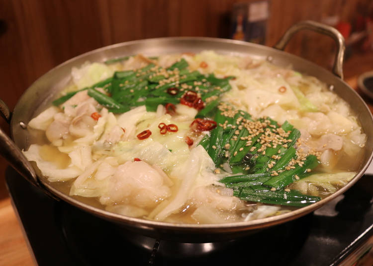 Motsu-Nabe, Motsu-Yaki, Pork horumon-yaki and Nikomi