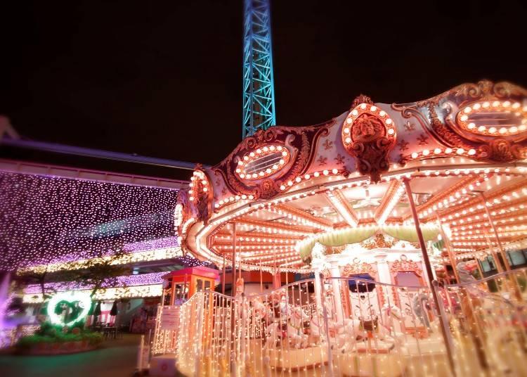 池野弘禮先生的推薦清單2 「淺草花屋敷」的屋敷燈光秀讓氛圍浪漫又夢幻