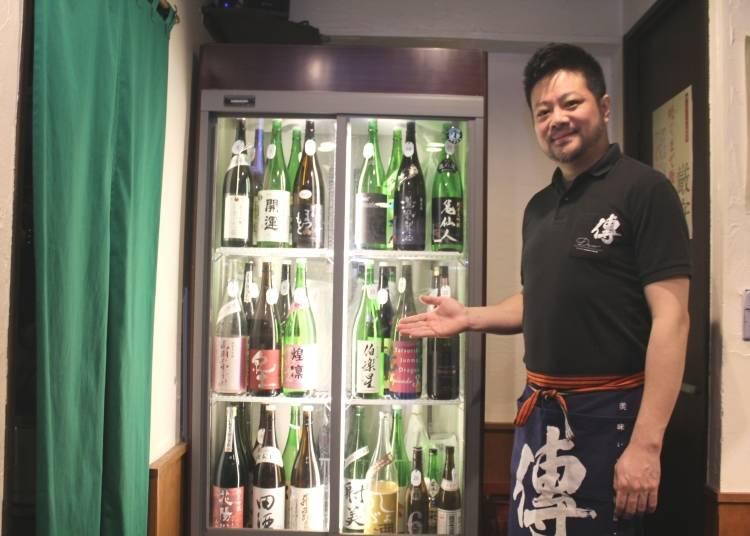 赤木先生的推薦清單6 赤木先生推薦的日本酒bar「傳」 提供優質的日本酒喝到飽方案