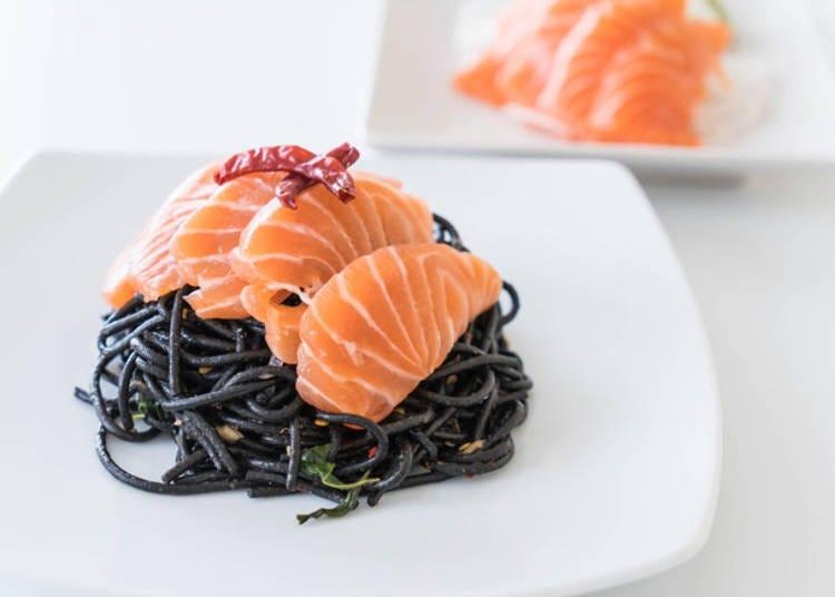 8. Sashimi Pasta, Japanese-Style