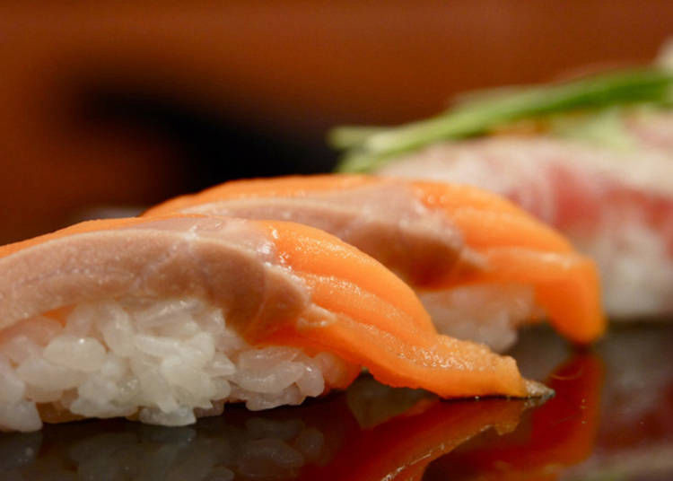 5. Salmon Belly Nigiri