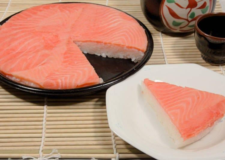 6. Salmon Oshizushi