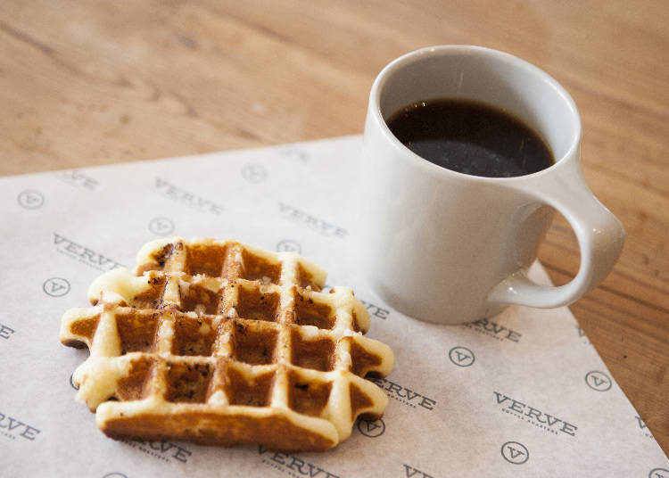 Start your day at the fashionable Verve Coffee Roasters Shinjuku
